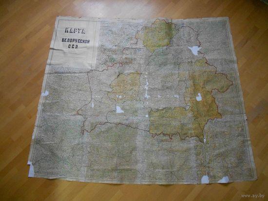 Карта Белорусской ССР РККА 1940 г. 5 км в 1 см 1:500000