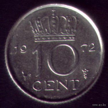 10 центов 1972 год Нидерланды