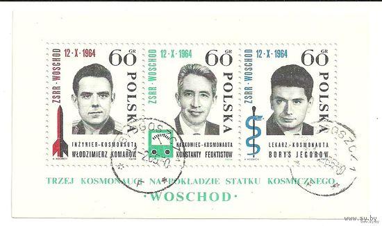 Полет трех космонавтов. 1964 Польша Блок