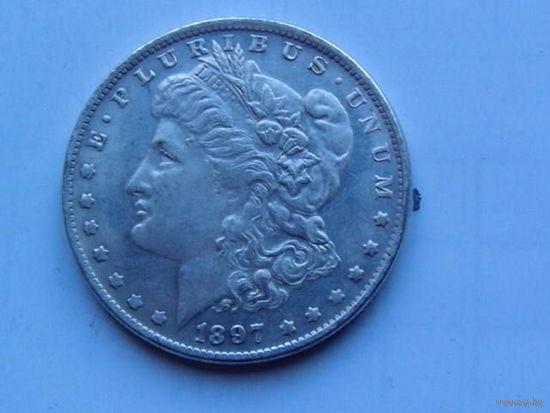 США. 1 доллар 1897г. (копия) распродажа.