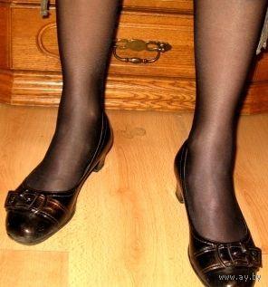 Туфли, очень удобный каблук, р-р 39, искуственная кожа, 25 см стелька
