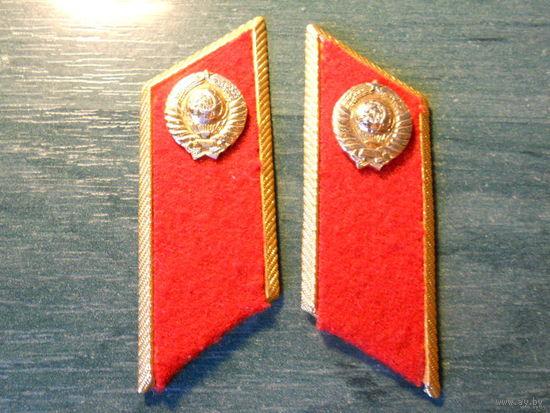 Петлицы на парадку милиции  1980 годы