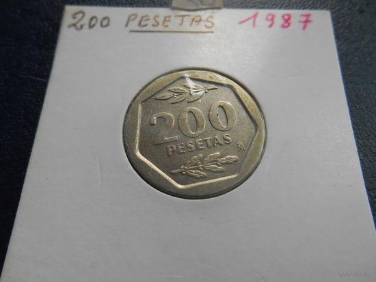 Испания 200 песет 1987 г.