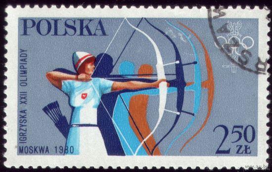 1 марка 1980 год Польша Олимпиада