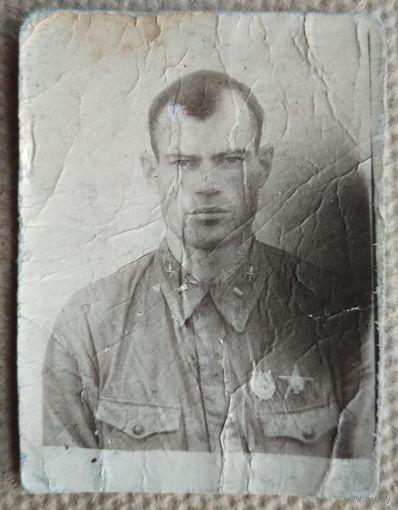 Фото военного летчика. 4х6 см