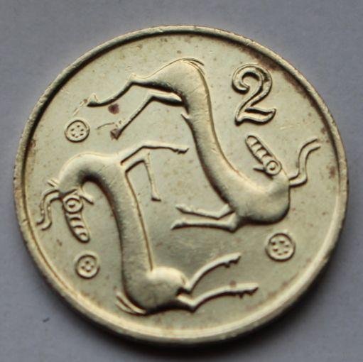 2 цента 1993 Кипр