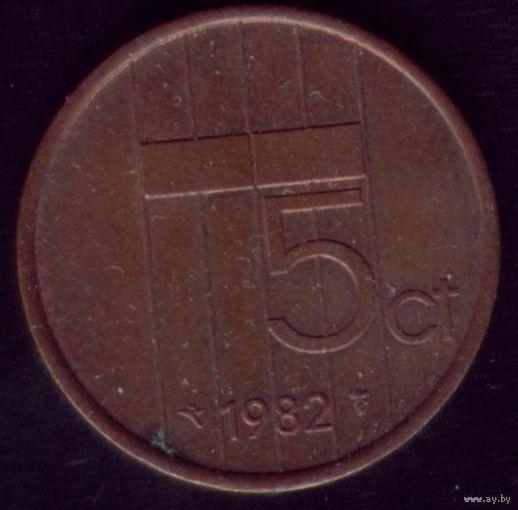 5 центов 1982 год Нидерланды
