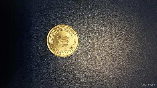 Сингапур 10 центов 1981 год_km#3_VF