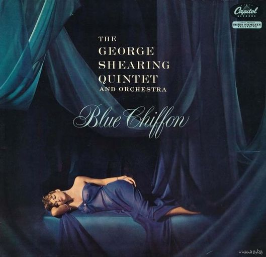 0347. The George Shearing Quintet and Orchestra. Blue Chiffon. Capitol (UK) = 13$