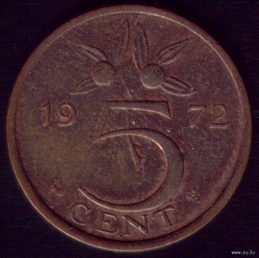 5 центов 1972 год Нидерланды