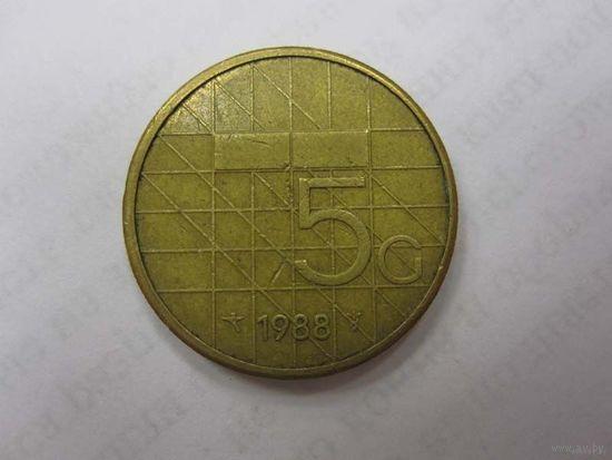 5 Гульденов 1989 (Нидерланды)