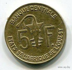 ЗАПАДНАЯ АФРИКА - 5 ФРАНКОВ 2004