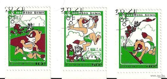 Спорт. Мультяшки. КНДР 1989 г. (Корея)