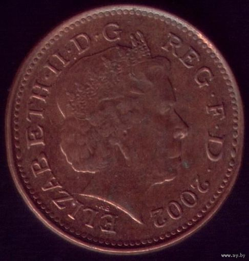 1 пенни 2002 год Великобритания