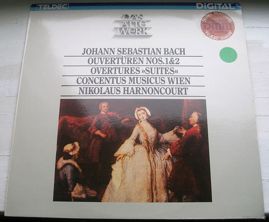Bach: Ouverturen No. 1 & 2. Concentus Musicus Wien / Harnoncourt LP, 1984