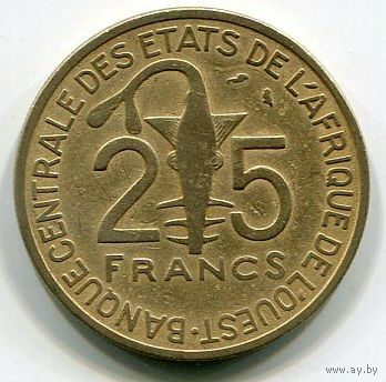 ЗАПАДНАЯ АФРИКА - 25 ФРАНКОВ 1971