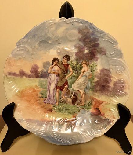Тарелка Коллекционная Франция конец 19в.