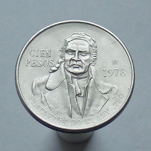 Мексика 100 песо 1978 СЕРЕБРО