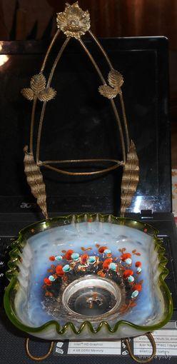 Барберино интерьерная бронза со спинкой антикварное стекло рисунок  модерн Российская империя