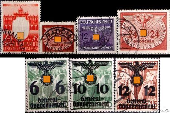 СВАСТИКА ТРЕТЬЕГО РЕЙХА - 7 марок