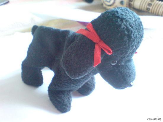 Чёрный плюшевый пудель.  распродажа