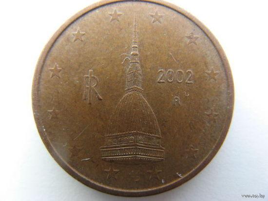 Италия 2 евроцента 2002г.