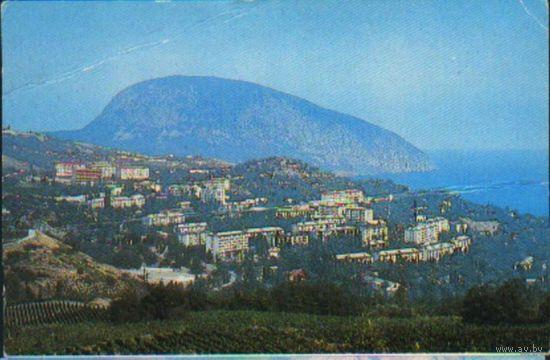Крым. Гурзуф.Вид на город и гору Аюдаг