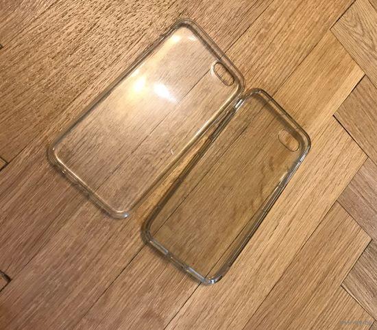 Два прозрачных чехла для iphone 6