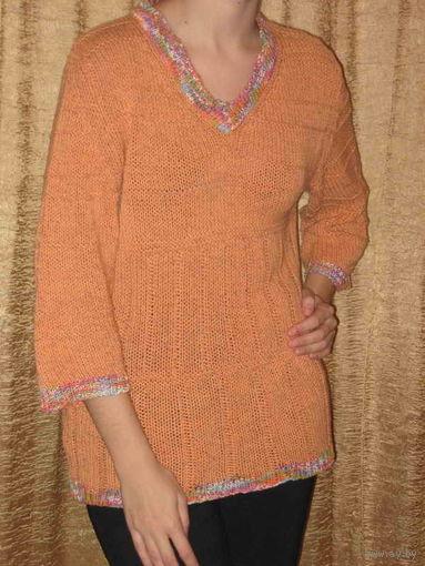 Свитер женский оранжевый