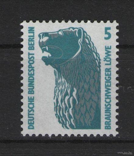 Западный Берлин 1990 г. Mi N 863** Марка стандарт Braunschweig (Доставка Бесплатно)