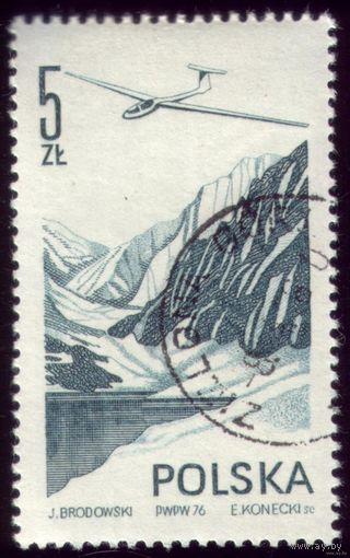 1 марка 1976 год Польша Авиация