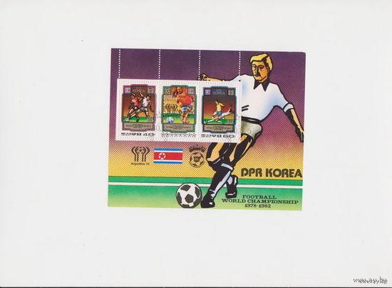 Блок Корея.Футбол1978-1982г.