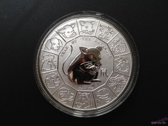 1 доллар 2008 г. Ниуэ-Год Крысы. Серебро
