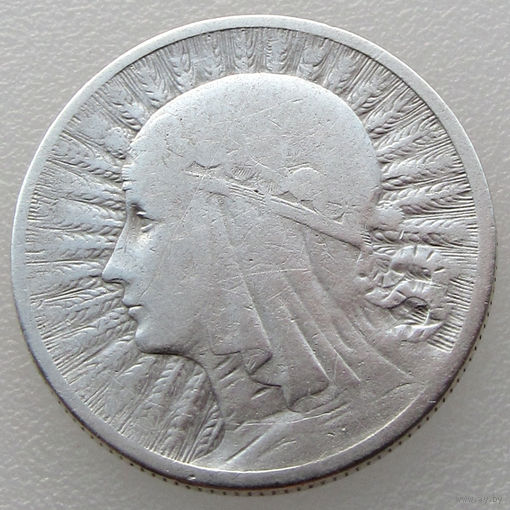 Польша, 2 злотых/ 2 Zlotych 1932 года, Ядвига, Y#20, серебро 750 пробы/ 4,4 г