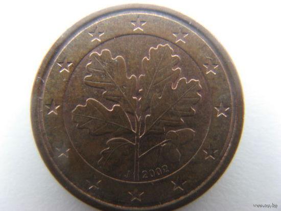Германия 1 евроцент 2002г. (J)