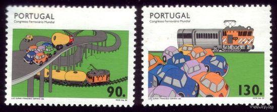 2 марки 1993 год Португалия Машинки