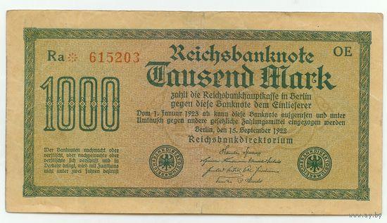 Германия, 1000 марок 1922 год.