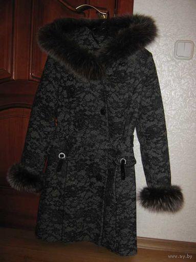 Пальто зимнее женское, фирма-ЭЛЕМА-(Elema)-б/у, размер-164-84-92-наш).