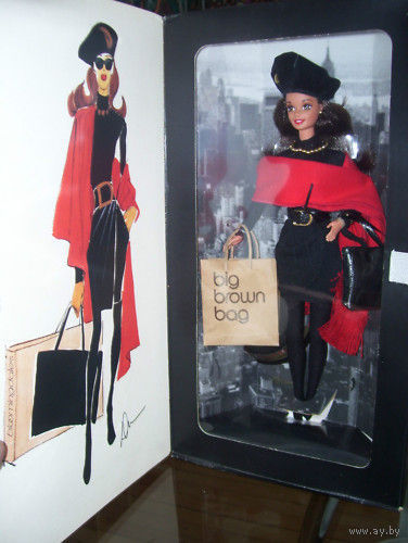 Коллекционная кукла Барби: Barbie Donna Karan New York 1995