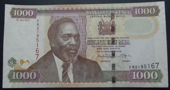 Кения. 1000 шиллингов 2010. Последний аукцион 2019.