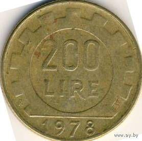 Италия 200 лир 1979 года   распродажа