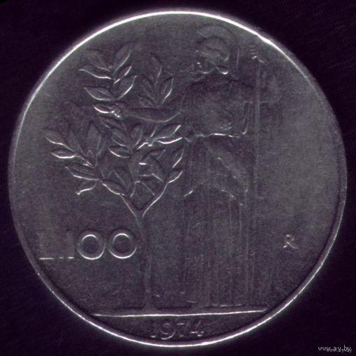 100 Лир 1974 год Италия