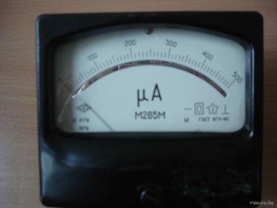 МИКРОАМПЕРМЕТР постоянноготока М265М от 0 до 500 б/у