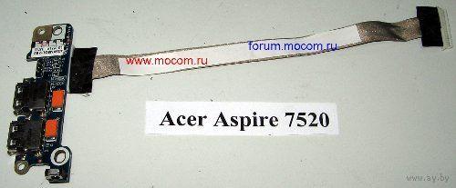 Acer Aspire 7520 Шлейф USB Board LS-3551P
