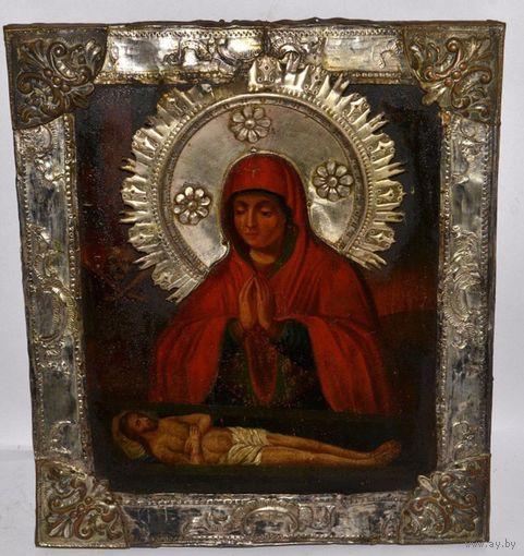 Икона Не рыдай Мене Мати, 1789 г. 34/30 см.
