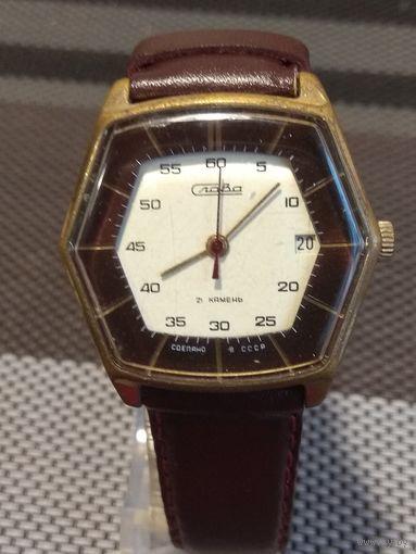 Часы Слава шестигранные 2414