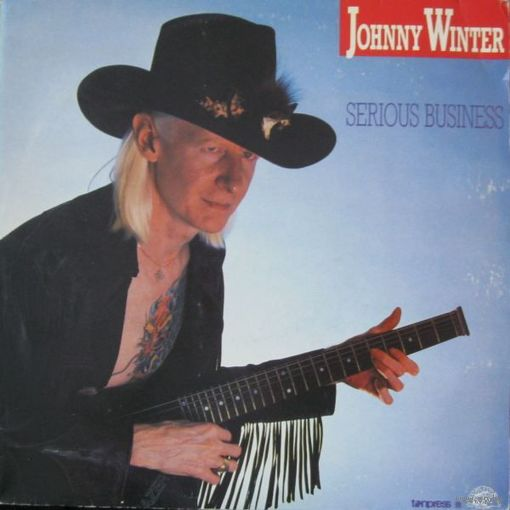 Johnny Winter  -  Serious Business - LP - 1986