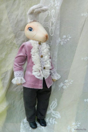 """Кролик Эдвард выполнен по мотивам известной сказки: """"Удивительные приключения кролика Эдварда"""" Кейта Ди Камилло + КНИГА-!"""