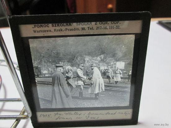 Советско-польская война 1919-1921 г. Станислав Халлер S.Haller фото негатив фото пластина 1920 г.Варшава