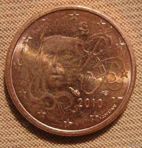 Франция 1 цент 2010 года. состояние   распродажа